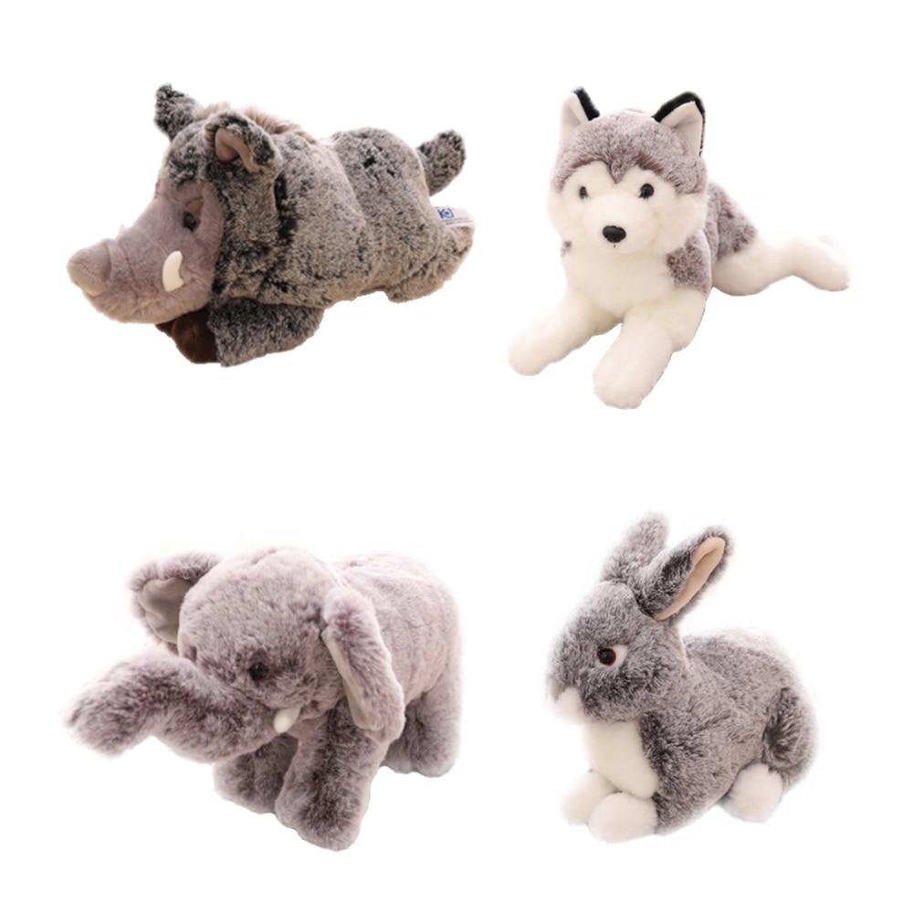 Simulation Small Animals Dog Wild Boar Rabbit Elephant Soft Plush Toy Doll Children's Toys Gifts Birthday Present