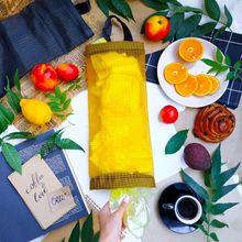 Домашний продуктовый мешок, настенный диспенсер для хранения, пластиковая сумка для хранения на кухне, подвесной органайзер для хранения м...