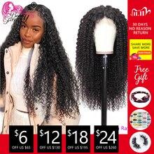 BeautyForever Peluca de cabello rizado malayo, pelucas con malla con división de cabello humano, Remy, prearrancada con pelo de bebé, 4x1 T