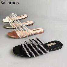 Женские шлепанцы с открытым носком пляжные сандалии на плоской