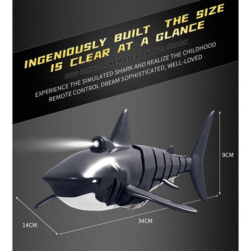 remoto barco simulação tubarão barco com efeitos