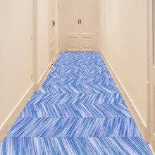 Blue Simulated wood grain floor sticker 3D waterproof non-slip DIY self-adhesive Living room bedroom Mall floor decoration цена 2017