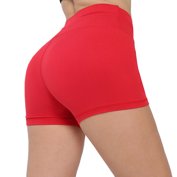 NORMOV Solid Skinny Fitness Shorts Women High Waist Push Up Workout Casual Elastic Quick-drying - discount item  27% OFF Shorts