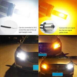 Image 5 - Racbox 2 adet araba LED dönüş sinyalleri işık 30W COB 1156 1157 3156 3157 T20 7440 7443 WY21W DRL led gündüz farı işık dönüş