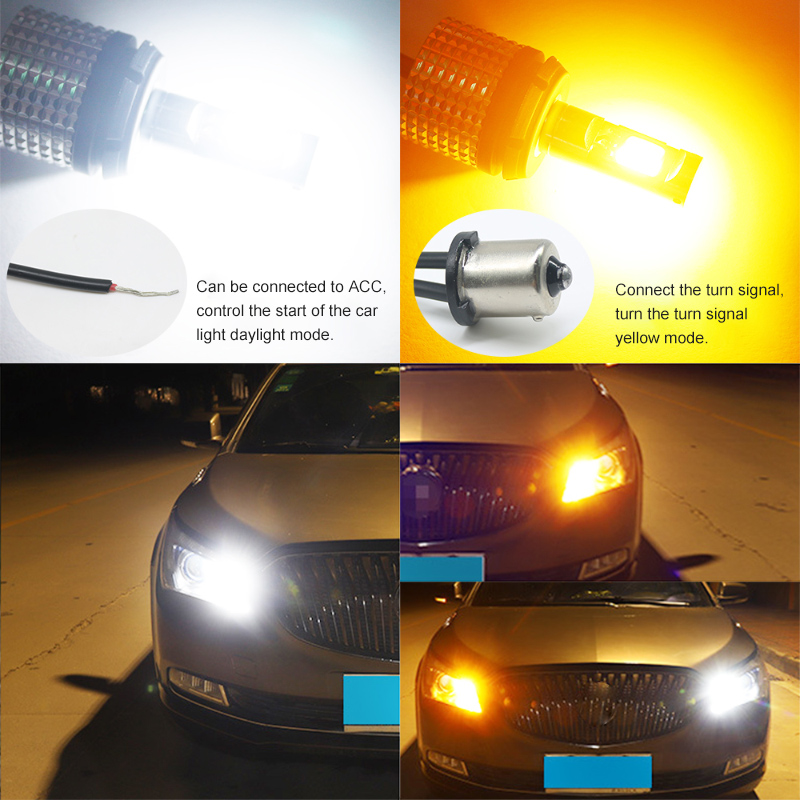 Image 5 - Racbox 2pcs Car LED Turn Signals Light 30W COB 1156 1157 3156 3157 T20 7440 7443 WY21W DRL led daytime running light turn lightSignal Lamp   -
