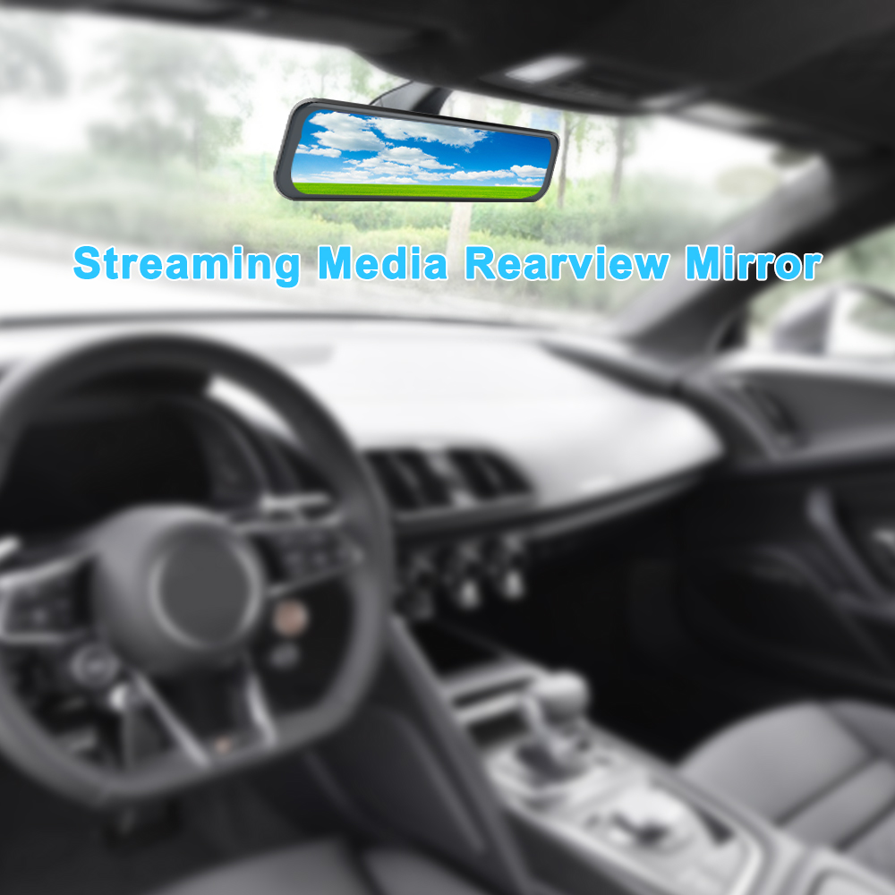 Waterproof Dash Cam Stream media Pro Stream Rearvew Mirror Car Dvr Camera FHD 1080P video recorder night vision