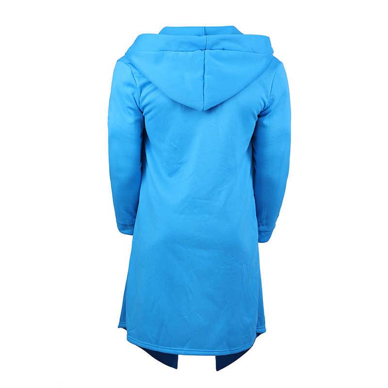 Hommes automne hiver sweats à capuche Long Cardigan manteau décontracté nouveau Hip Hop solide veste poches mâle vêtements à capuche vêtements Streetwear 2XL
