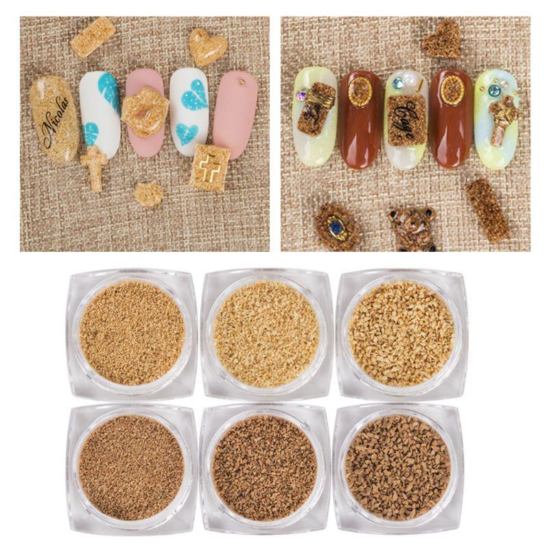 6 Bottles Natural Wood Seashell Theme Starfish Sand UV Resin Fillings Frames DIY Beach Landscapes Resin Jewelry Making