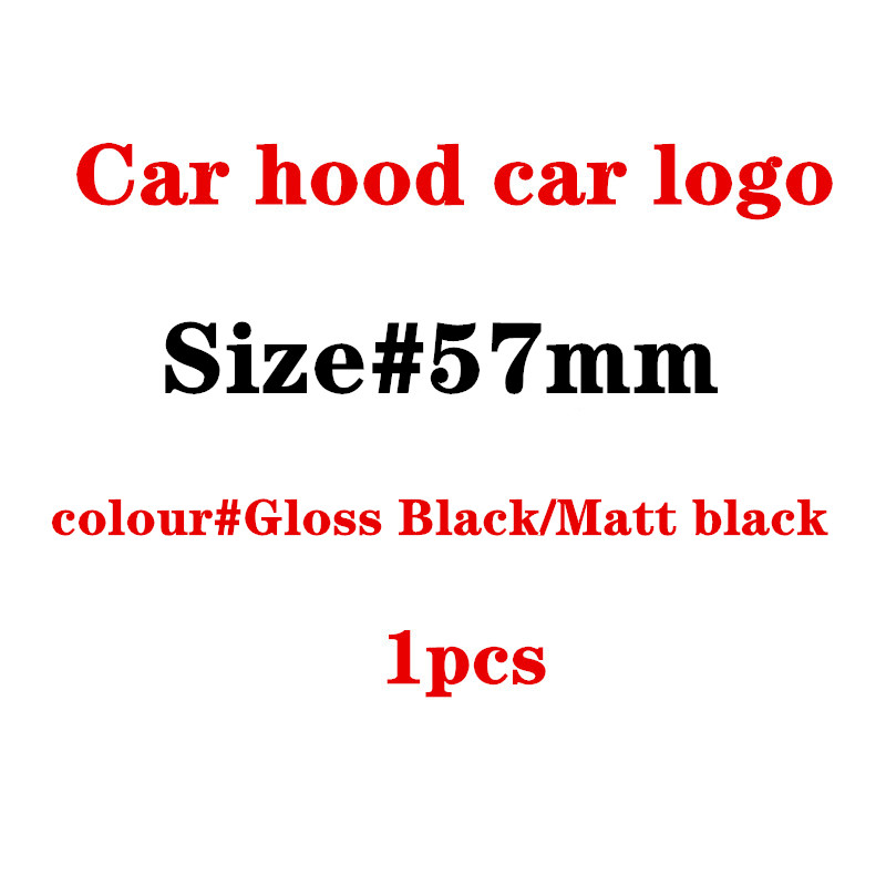 57mm Full Black Car Hood Emblem Badge Bonnet Emblem For Mercedes For W124 W140 W163 W202 W203 W204 W210 W211 57mm A2048170616