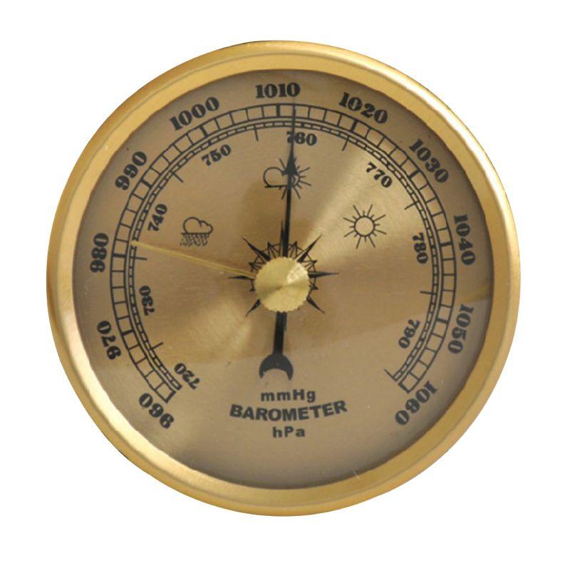 Домашняя метеостанция с барометром, металлическая настенная комнатная многофункциональная метеостанция с термометром и гигрометром