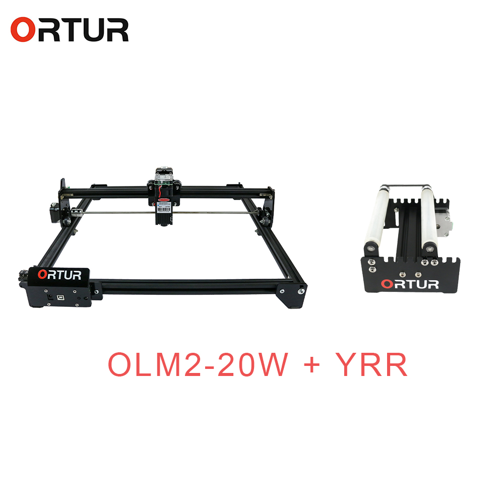Ortur OLM-2 Desktop Diy Logo Mark Printer Carver Lasergravure Machine Met Cnc Yrr Roller Rotatie Axis Rotary Bevestiging