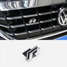 Металлические 3D наклейки R-Line, 1 шт., красные металлические наклейки для стайлинга автомобиля, эмблема переднего корпуса решетки радиатора д...