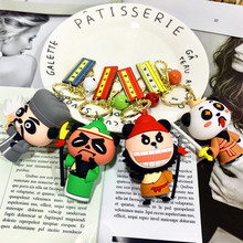 New Chinese Style Keychains Romance Of The Three Kingdoms Cartoon Key Chains Liu Bei Guan Yu Zhang Fei Doll Must For Cute People fei yu