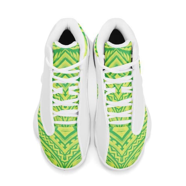 De calidad superior de la Polinesia Samoa estilo Tribal niño zapatillas de deporte Zapatos de bola Logo de equipo deportivo de Baloncesto de los hombres zapatos deportivos 5