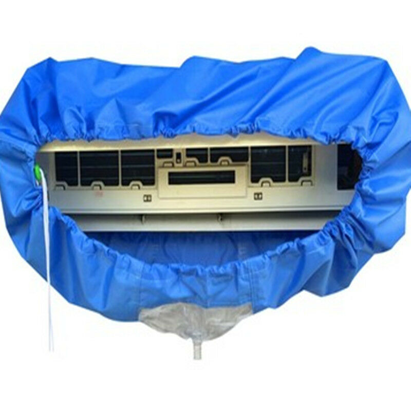 New Air Conditioning Cover Washing Wall Mounted Air Conditioner Cleaning Protective Dust Cover Clean Tool Tightening Belt