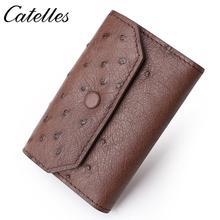 Genuine Ostrich Leather Card Holder Unisex Credit Card Holder Wallet Bank Credit Card Case ID Holders Women Card Holder