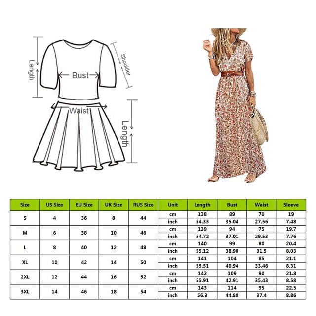 Womens Long Dress Summer V-neck 5