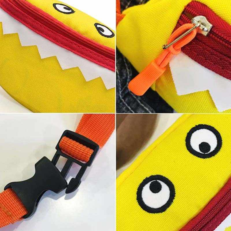 เด็กใหม่เอวกระเป๋าสำหรับ KIDS Monster กระเป๋าเข็มขัดแพ็คความจุสูงถุงตลกกล้วยกระเป๋าไตกระเป๋า Crossbody