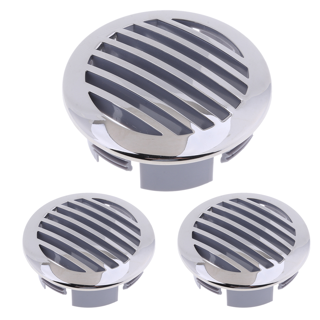 """3Pcs Round Louver Vent for Marine Boat Yacht RV 304 Stainless Steel 4/"""""""