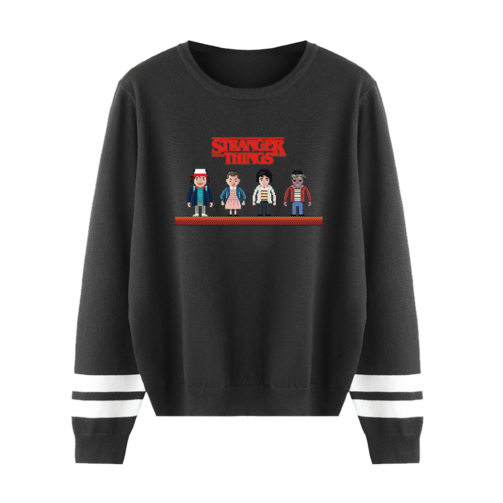 Sweater Men/Women Long Sleeve Sweater Fashion Knitted Print Stranger Things Pullover Casual Sweaters Men's Harajuku Casual Tops