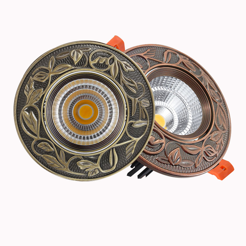 Copper/Bronze Colour LED Downlight Dimmable 3W 5W 7W Warm /Nature/Cold White Round Recessed LED Lamp Spot Light Indoor Light