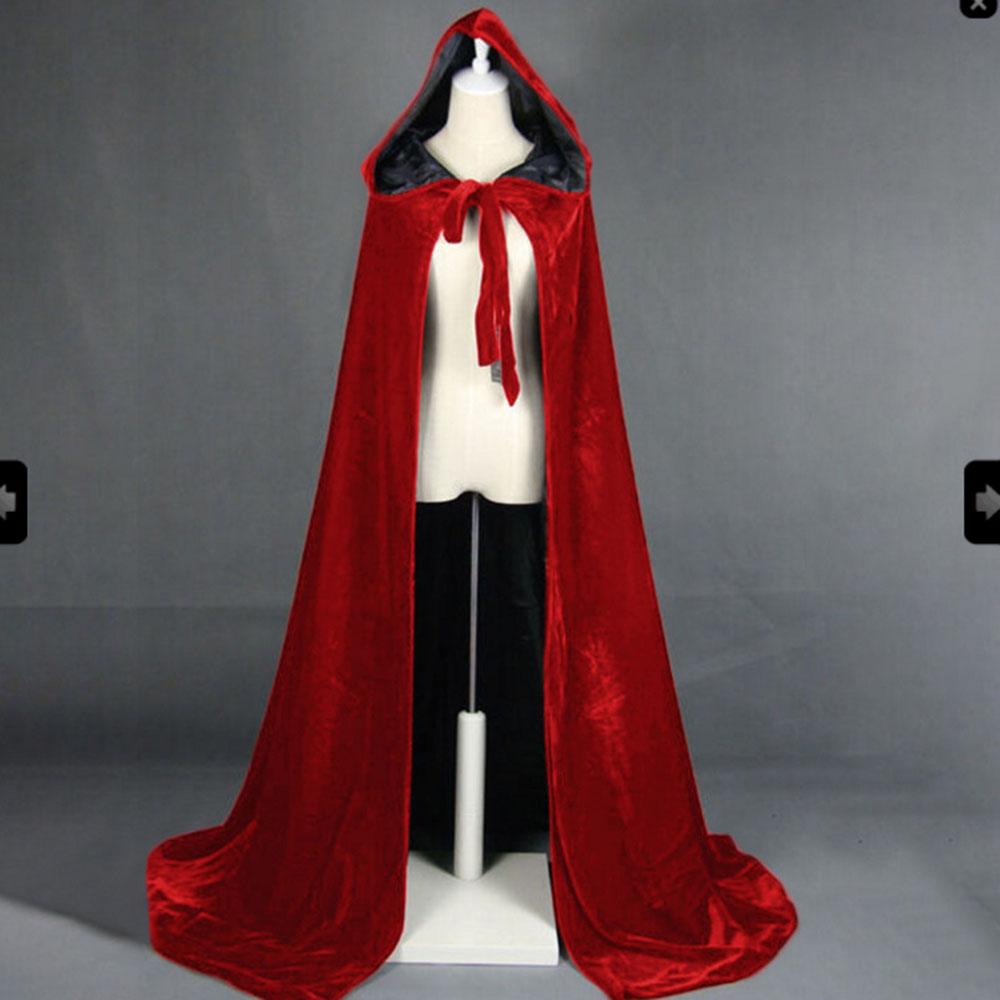Gothic Women Medieval Cape Winter Halloween Cape Winter Warm Long Hooded Cloak