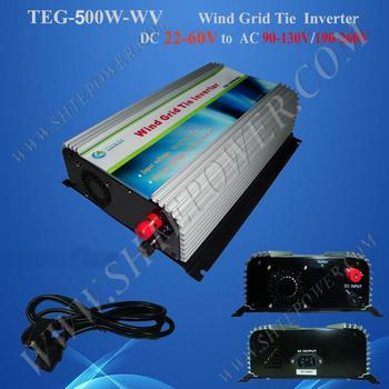 500W on grid tie Wind Inverter dc 22-60v to ac 110v, 220v, 230v, 240v grid tie public power grid tie wind inverter 500w фото