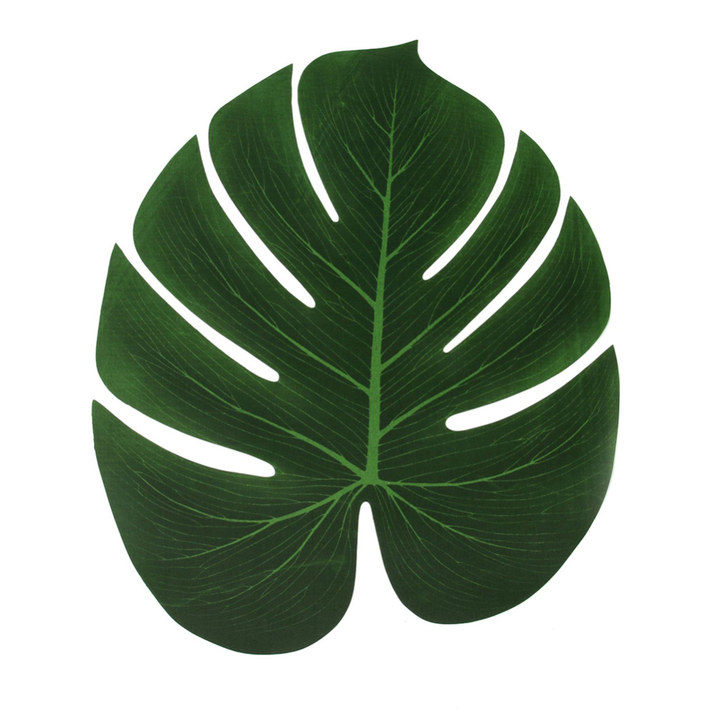 12pcs Artificial Turtle Leaf Table Mat Decor Placemat Simulation Plant Leaves for Hawaiian Tropical Jungle Party Home Decoration in Party DIY Decorations from Home Garden