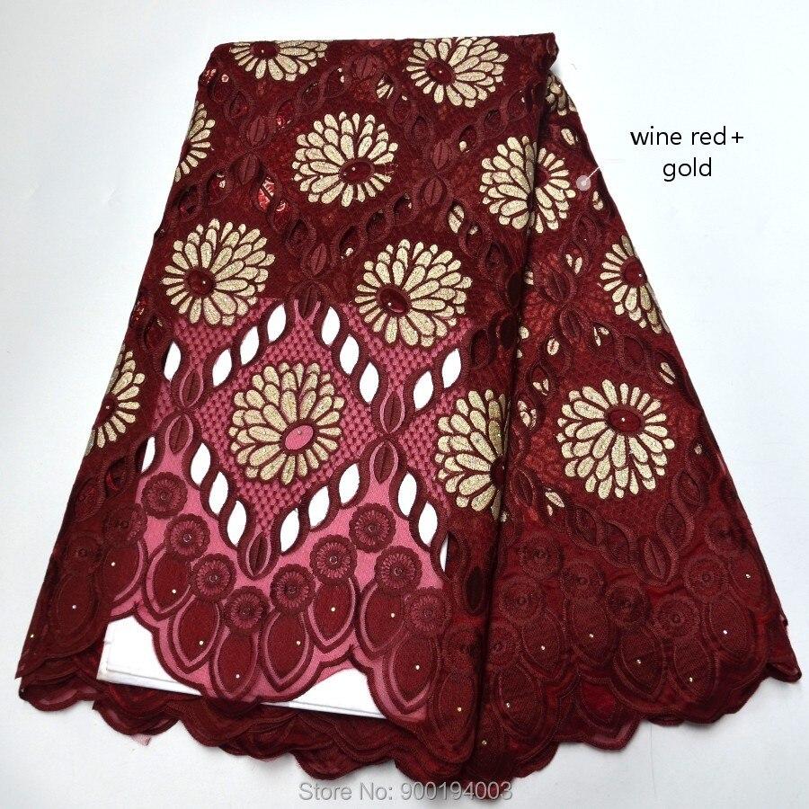 alta qualidade laço casamento tecido africano 5