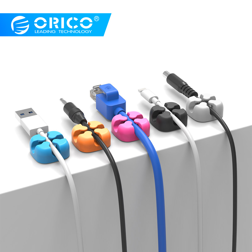 ORICO CBS5 Silicon Cable Winder Wire Organizer Charger Cable Holder Clips Qo