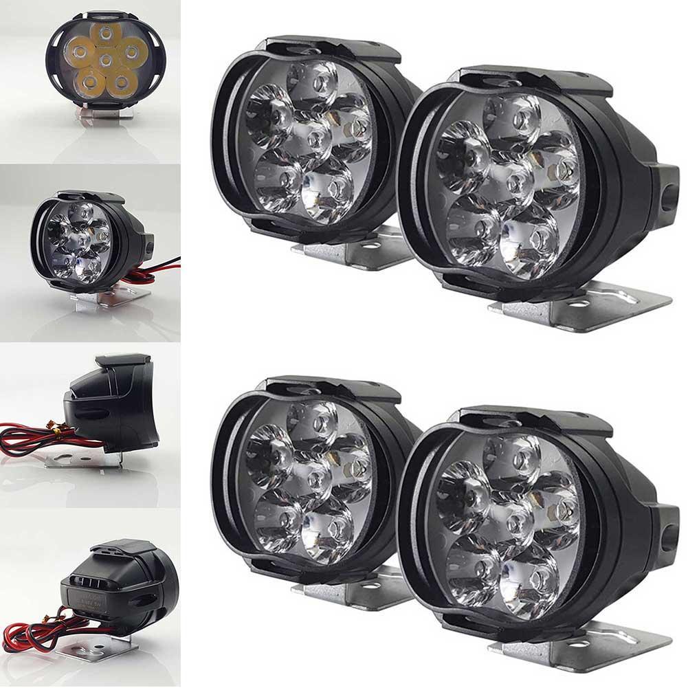 Универсальный светодиодный фонарь для велосипеда, Электрический Точечный светильник для велосипеда, фасветильник для мотоцикла, внешний вспомогательный противотуманный свет, светильник