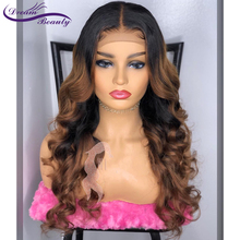 Colored 1b/30 Ombre Lace Front Human Wig With Baby Hair PreP