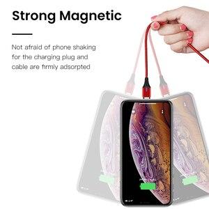Image 4 - Amzish 3a magnético micro cabo usb para iphone samsung tipo de dados c cabo usb magnético carregador rápido tipo c para o cabo de carregamento do telefone
