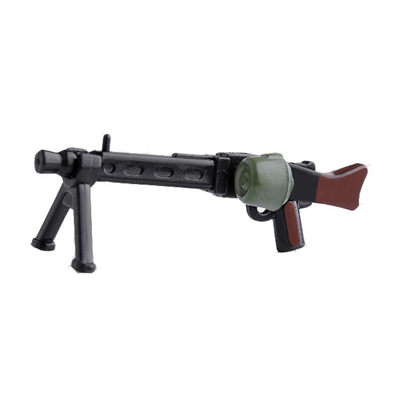 1 Pcs Guns Military Weapons Rifle Heave  Machine Gun Submachine  MOC Part Building Blocks Bricks Toys for Children X346