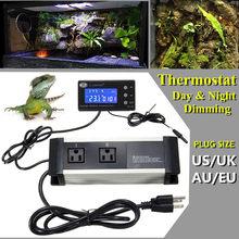 Mising Thermostat régulateur de température jour et nuit gradation pour Reptile Aquarium réservoir 110/220V AU/royaume-uni/ue/US Plug