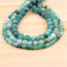 Natural Green Stripes 6/8/10/12mm?Bead?Round?Bead?Spacer?Jewelry?Bead?Loose?Beads?For?Jewelry?Making?DIY?Bracelet