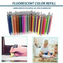 Novo bonito 1.0mm cor gel caneta highlighter recarga cor cartucho de tinta flash caneta pintura a tinta brilhante grafite caneta estudante stationer