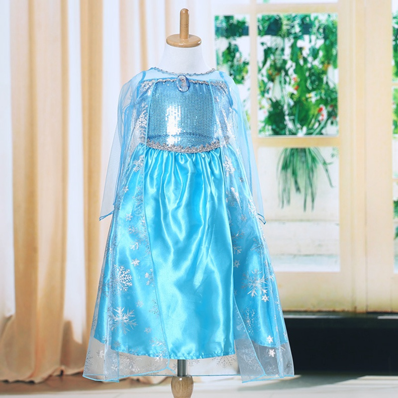 Costume Princess Dress-Up Party Girl Kids Snow Lot Frozen Cosplay Fancy New