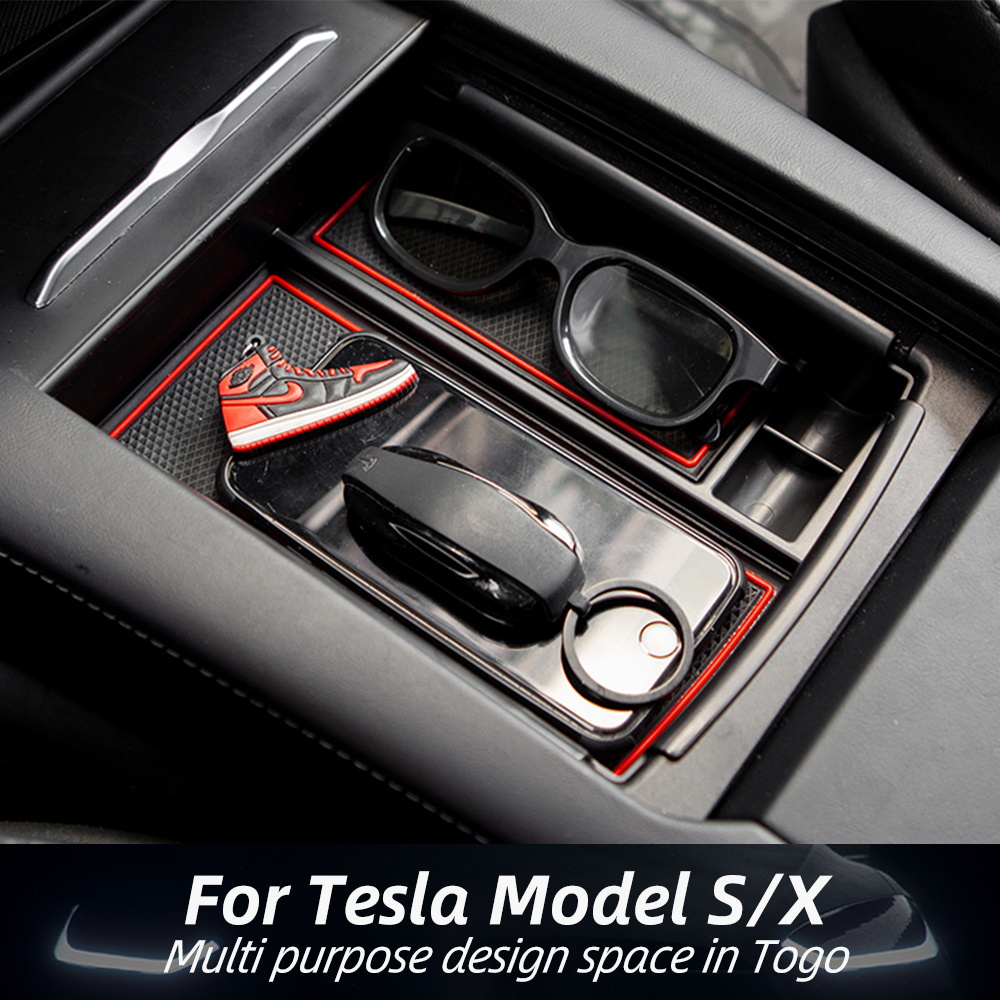 Tesla Model S X Center Console  Storage Box ABS Material For Tesla Accessories