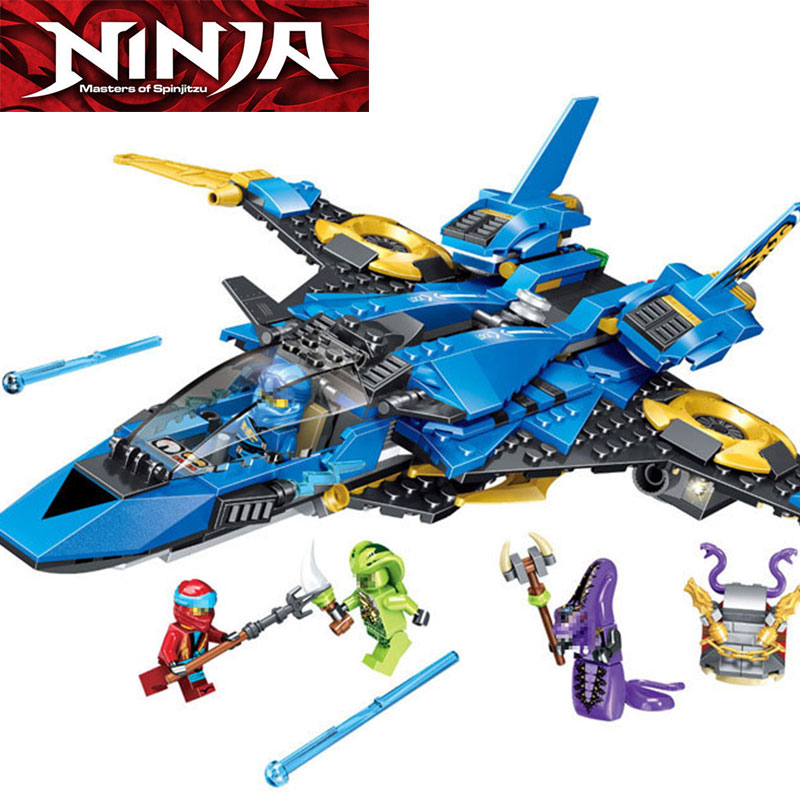 2019 <font><b>Ninjagoes</b></font> Jay's Storm Fighter Spaceship Wars Figures Model Building Blocks Compatible with ninja <font><b>70668</b></font> Gift Toys image