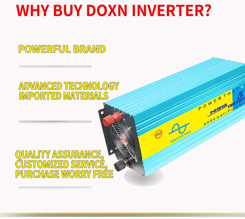 5000W Pure Sine Wave Inverter DC12V/24V/36V/48V To AC110V/AC220V 50HZ/60HZ Surge Power 10000W