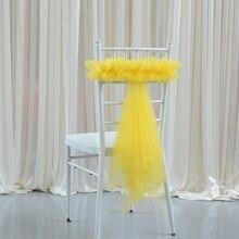 Пояс для стула, накидка для свадьбы, накидка для стула, лента для свадьбы, вечеринки, дня рождения, банкета, Узелок, украшение