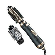 2in1 מסתובב שיער מייבש מברשת האוויר חם styler rotaty airbrush מייבש ספינינג עבור נפח ורך תלתלים גלי 38/ 50mm חבית כלי