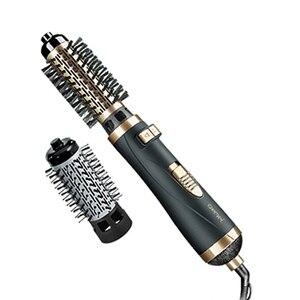 Image 1 - 2in1 מסתובב שיער מייבש מברשת האוויר חם styler rotaty airbrush מייבש ספינינג עבור נפח ורך תלתלים גלי 38/ 50mm חבית כלי