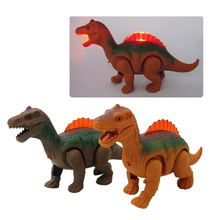 Electronic Walking Robot Dinosaur Light Up Luminous Dinosaur Model Kids Toy Gift