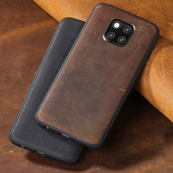 Cowhide Phone Case For Huawei Mate 9 10 20 Pro P10 P20 P30 Lite Crazy Horse Skin Back Cover For Honor 8X 9 10 Case Texture