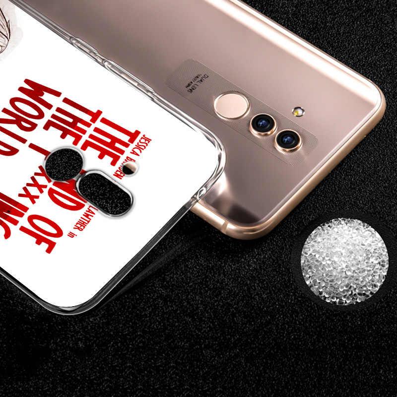 クリアtpuカバーエンドfing fxxxing世界アートhuawei社メイト 20X 30 20 10 liteプロY9 Y7 Y6 y5 プロプライム 2019 電話ケース