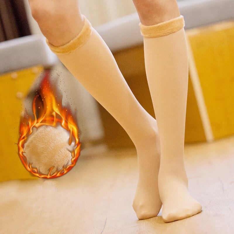 Зимние женские теплые длинные носки, утепленные теплые носки для снежной погоды, бархатные женские повседневные домашние напольные носки д...