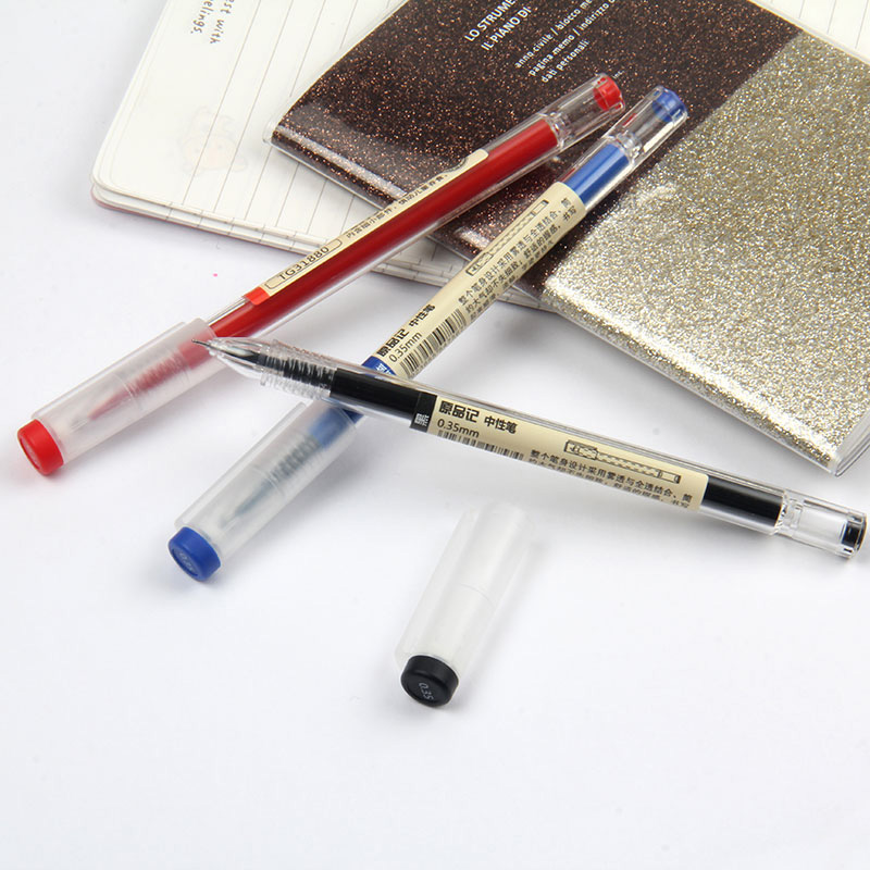 0.35mm Fine Gel Pen Blue/Black Ink Refills Rod for Handle Marker Pens School Gelpen Office Student Writing Drawing Stationery 3