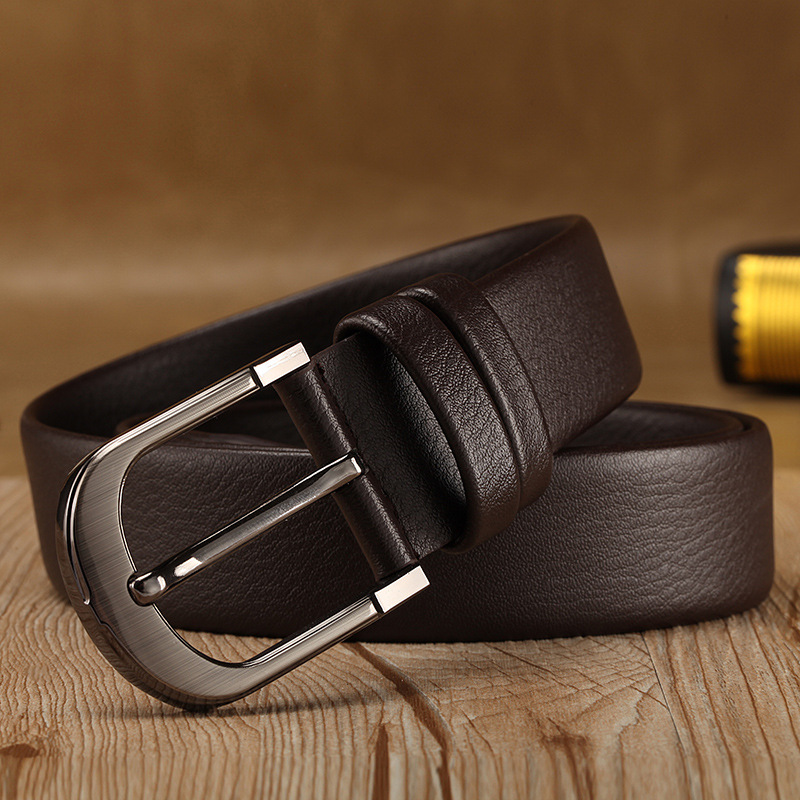 Luxury Design Business Men Belts Pin Buckle Leather Belts For Jeans Brown Retro Waist Strap Belt Classic Ceinture Homme